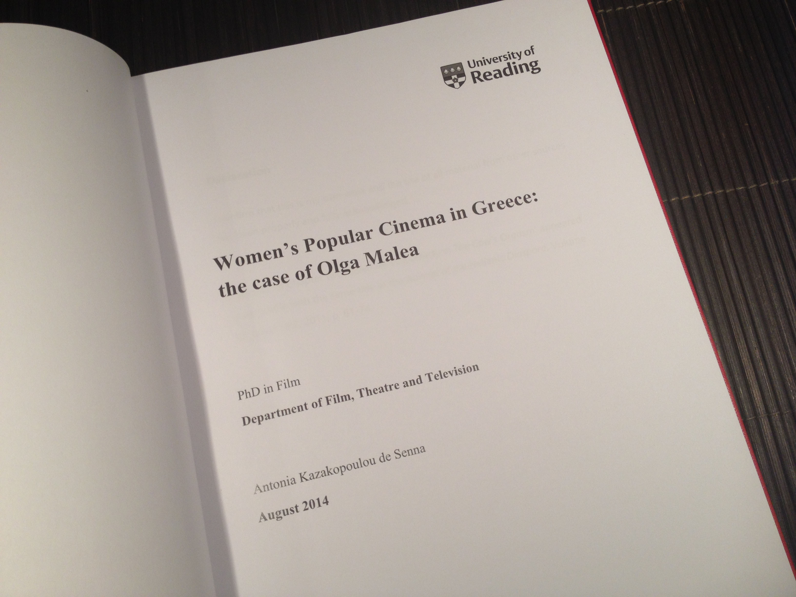 Thesis for phd